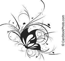 abstract ontwerp, element.