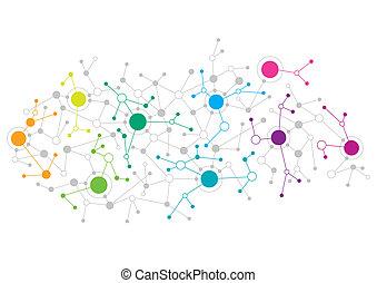 abstract ontwerp, netwerk