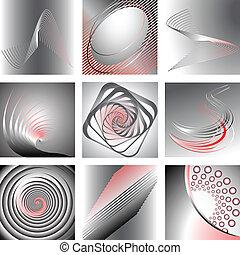 abstract, ontwerpen, set.