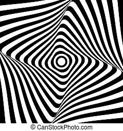 Abstract op art design. Lines pattern.