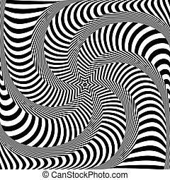 Abstract op art design. Lines texture. Vector illustration.