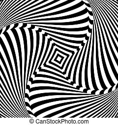 Abstract op art design. Torsion movement. - Abstract op art...