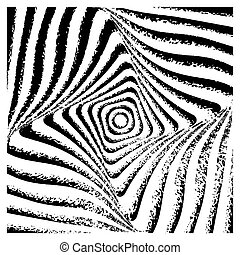 Abstract op art graphic design.
