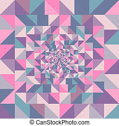 Abstract optic effect colorful triangle seamless pattern background. EPS10 Vector file in layers for easy editing.