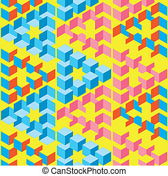 Abstract Optical Illusion Seamless Pattern