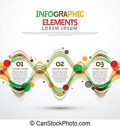 abstract option infographics - colorful modern vector ...