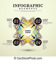 modern vector abstract luminous option infographic elements