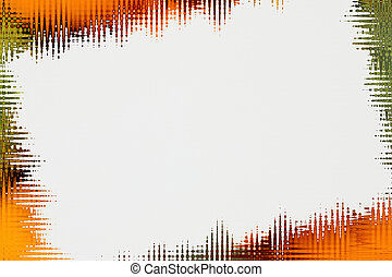 Orange and green abstract blurred lines background