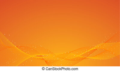 Abstract orange background - Abstract orange vector ...