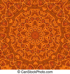 Abstract Orange Background - Retro