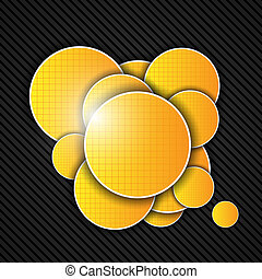 Abstract orange background. Vector illustration.