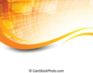 Abstract orange background - Wavy orange background with ...
