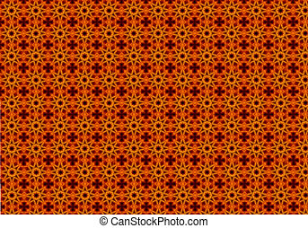 abstract orange background with a floral design