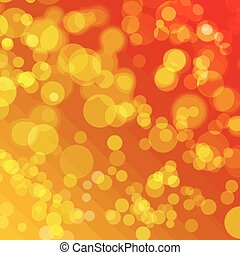 Abstract orange background with bokeh effect