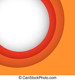 Abstract orange background with copy space