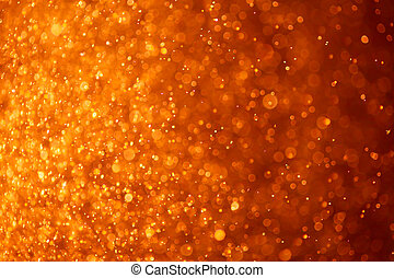 abstract orange background with particles