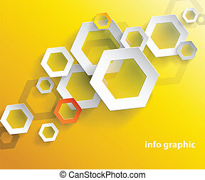 Abstract orange background with place for your text.