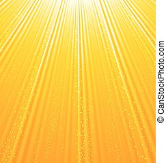 Abstract orange background with sun light rays