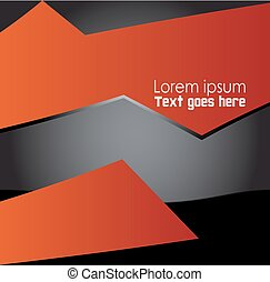 Abstract Orange, black background