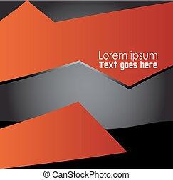 Abstract Orange, black background