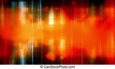 Abstract Orange Blue and Black Loop