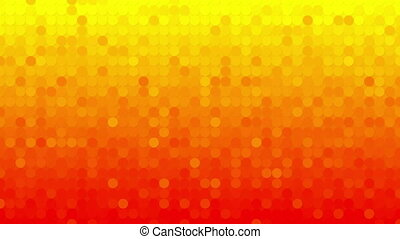 abstract orange circles mosaic loopable background