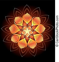 abstract orange flower - luxury abstract orange, hot, ...