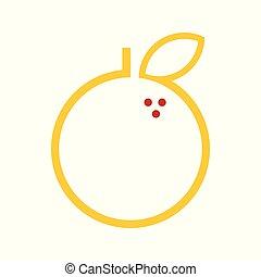 Abstract Orange Fruit Vector Illustration Graphic