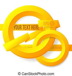 abstract orange layout design