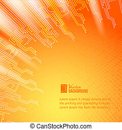 Abstract orange lights background.