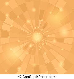 Abstract Orange Mosaic Pattern