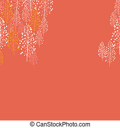 Abstract orange plants seamless pattern background