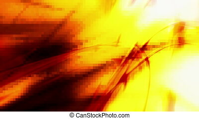 Abstract orange red and white loop