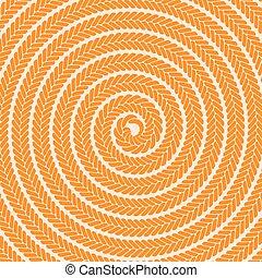 Abstract Orange Spiral Pattern