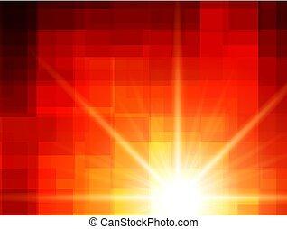 Abstract orange, sunny background