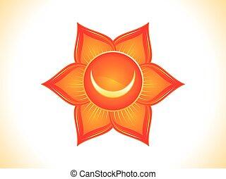 abstract orange swadhishthan chakra.eps - detailed sacral...