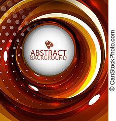 Abstract orange swirl background - Vector abstract orange...