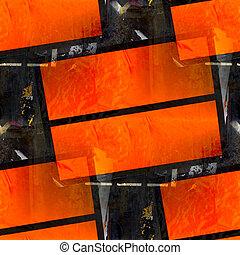 abstract orange table background aged damaged border constructi