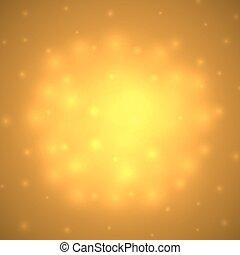 Abstract orange warm glow vector background.