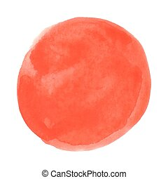 Abstract orange watercolor on white background