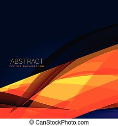 abstract orange wave style background design