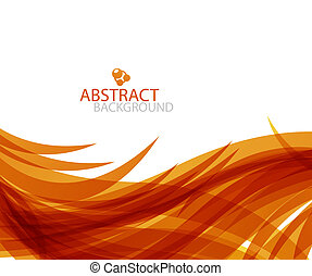 Abstract orange wave