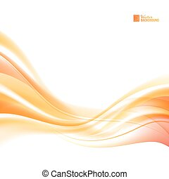 Abstract orange wind. Abstract smooth background lines for ...