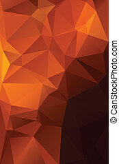 Abstract orange with brown background polygon.