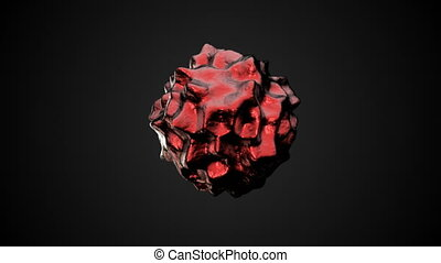 Abstract Organic Sphere Object Virus. 3d rendering. Seamless...