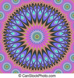 Abstract oriental star fractal design background vector