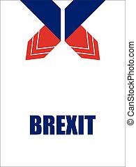 abstract origami design, brexit banners