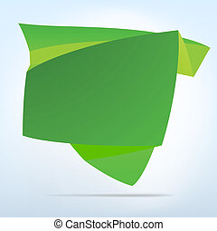Abstract origami speech bubble. EPS 8