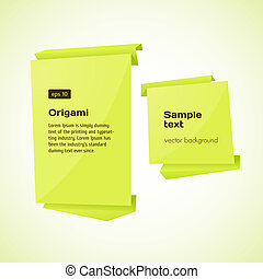 Abstract origami speech bubble vector background.