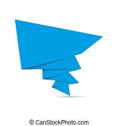 Abstract origami speech bubble. Vector illustration